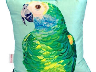 Parrot Portrait Cushion:   by Luku Home