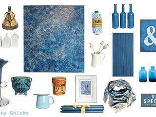 Blaue Wohnaccessoires und Dekoration:   von miss-red-fox.de