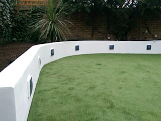 Mediterainan Garden design and build Oleh Progressive Design London