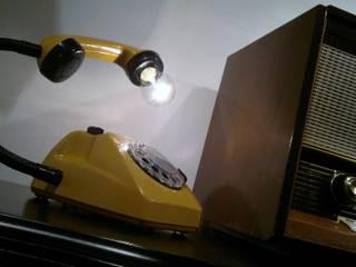 teleLAMPAfon - kaFka 77' od RefreszDizajn Minimalistyczny