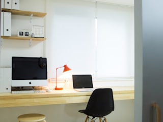 The Diagonal Line _평창동 빌라: 지오아키텍처의  서재 & 사무실