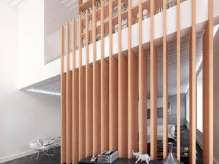 现代客厅設計點子、靈感 & 圖片 根據 lacooperativaarquitectos 現代風