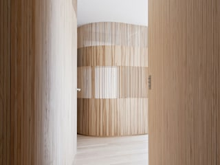 Appartement N°4: Couloir et hall d'entrée de style  par Julien Joly Architecture