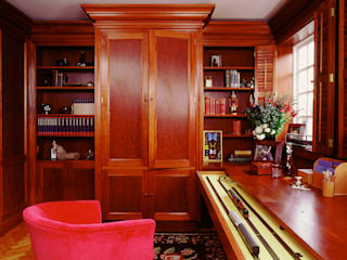 Study with Train and Hidden Door designed and made by Tim Wood by Tim Wood Limited Classic