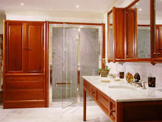 Chelsea Mahogany Bathroom designed and made by Tim Wood Classic style bathroom by Tim Wood Limited Classic