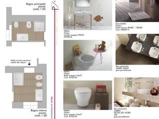 Bagno in camera: Bagno in stile in stile Mediterraneo di Idealarchitecture
