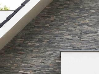 Barroco Natuursteenstrips als gevelbekleding:  Huizen door Xcel Stones