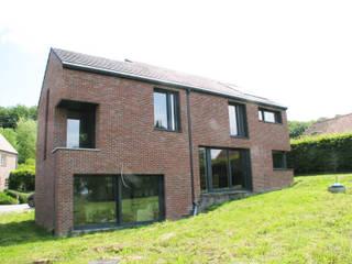 Maison passive en Hainaut Maisons modernes par dune Architecture sprl Moderne