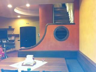 antonio giordano architetto Salas de entretenimiento de estilo moderno