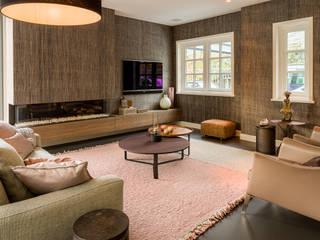 Woonkamer + keuken Amstelveen Moderne woonkamers van Baden Baden Interior Modern