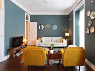 ausgefallene Wohnzimmer von Tiago Patricio Rodrigues, Arquitectura e Interiores