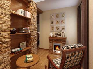 домик в стиле шале Коридор, прихожая и лестница в стиле кантри от Дизайн студия Асфандияровой Лилии Кантри
