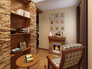 Country style corridor, hallway& stairs by Дизайн студия Асфандияровой Лилии Country