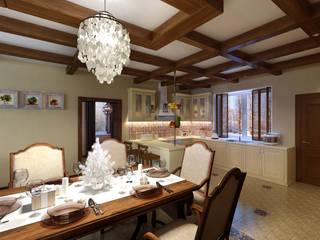 домик в стиле шале Кухня в стиле кантри от Дизайн студия Асфандияровой Лилии Кантри