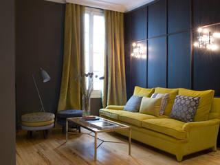 Showroom para editor téxtil Salones de estilo ecléctico de DyD Interiorismo - Chelo Alcañíz Ecléctico