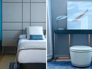 Showroom para editor téxtil Dormitorios de estilo ecléctico de DyD Interiorismo - Chelo Alcañíz Ecléctico