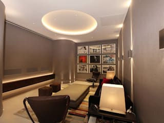 U2 Can Have a Home Cinema Like This Finite Solutions モダンデザインの 多目的室