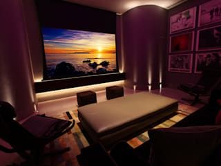 U2 Can Have a Home Cinema Like This Modern media room by Finite Solutions Modern