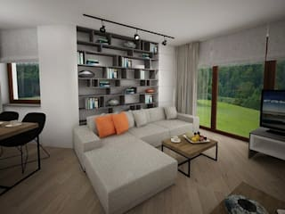Salones minimalistas de living box Minimalista