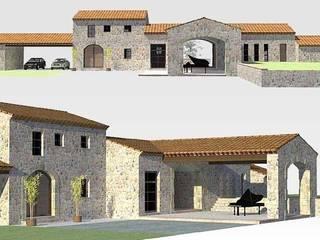 Villa Rustique: Maisons de style  par Atelier du Revest