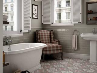 Equipe Ceramicas Salle de bain rustique