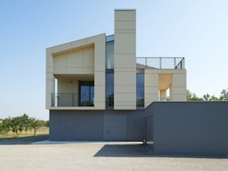 HDBV – housedouble quattro castella: Case in stile in stile Moderno di NAT OFFICE - christian gasparini architect