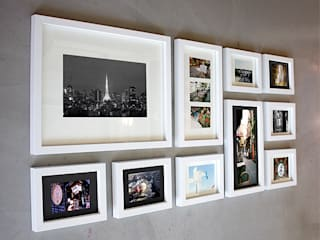 PHOTOWALL GALLERY FRAME 10P SET—White: A.MONO Co,.LTD.의  벽 & 바닥,