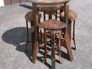bar table and four stools:   by Robbie Reid Furniture