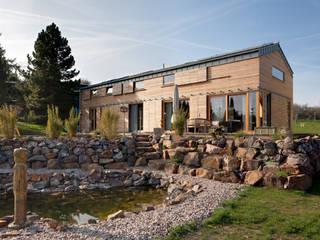 Zugangsfront:  Holzhaus von k² Architektur