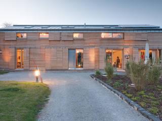 Ansicht Zugang:  Holzhaus von k² Architektur