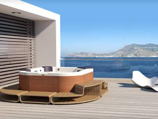 Maxi Spa Santorini PRO with surround designed for Jacuzzi:  in stile  di DNA |design by Kaluderovic & Condini|