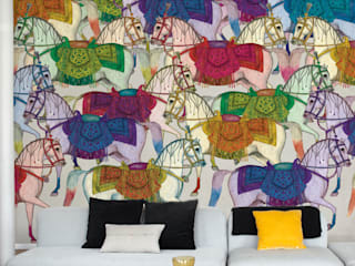 Karakorum mural  wallpaper :  de estilo  de Tres Tintas Barcelona