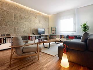 Piso Vilas: Salones de estilo moderno de Castroferro Arquitectos