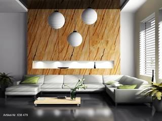 Sandsteintapete Mediterrane Wohnzimmer von XSTONE Bodenbelags GmbH Mediterran