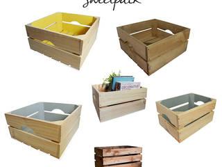 """Decora tu hogar con cajas de madera de """"Sweetpack"""":  de estilo  de Chicplace"""