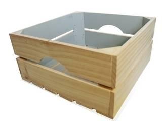 Caja cuadrada azul nordico:  de estilo  de Chicplace
