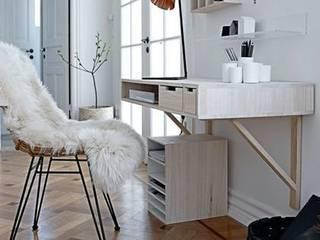 Piel de cordero color blanco :  de estilo  de Chicplace