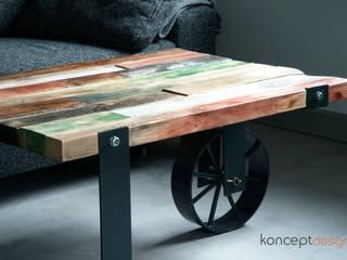 """Stół """"Taczka"""": styl , w kategorii  zaprojektowany przez Konceptdesign"""