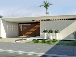 モダンな 家 の Quattro+ Arquitetura モダン
