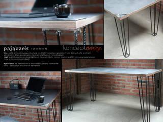 """Stół """"Pajączek"""": styl , w kategorii  zaprojektowany przez Konceptdesign"""