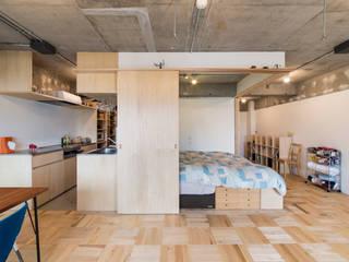 Modern style bedroom by 吉田裕一建築設計事務所 Modern