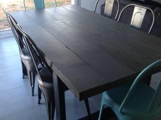 Table de salle à manger industrielle massive:  de style  par Bg meubles