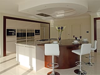 Large contemporary kitchen, Hertfordshire by John Ladbury and Company
