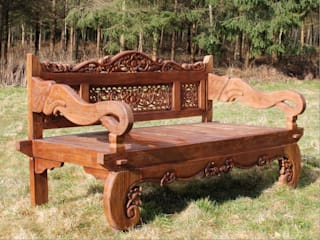 Carved Elephant Bench:   by Garden Furniture Centre