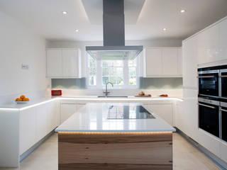 Flow High Gloss White Stoneham Kitchens Minimalist kitchen
