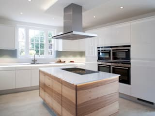 Flow High Gloss White Stoneham Kitchens Modern kitchen