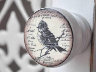 Möbelknauf Holzknauf Vintage Bird von Shabbyflair:  Haushalt von Shabbyflair