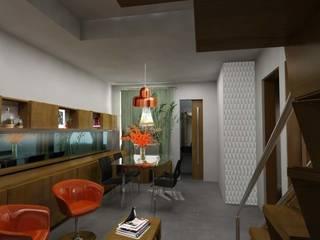 L.S.'s Appartment: Salon de style  par Alguma Coisa Design
