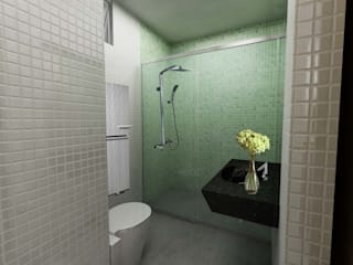 L.S.'s Appartment: Salle de bains de style  par Alguma Coisa Design