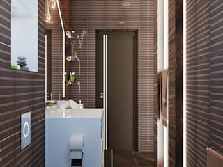 Minimalist style bathroom by Студия дизайна Interior Design IDEAS Minimalist
